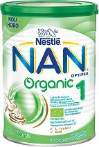 Nestle NAN Адаптирано бебешко мляко OPTIPRO Organic  1 LR 12х400 гр.